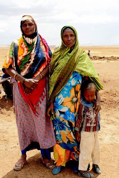 Ethiopian women in the drought