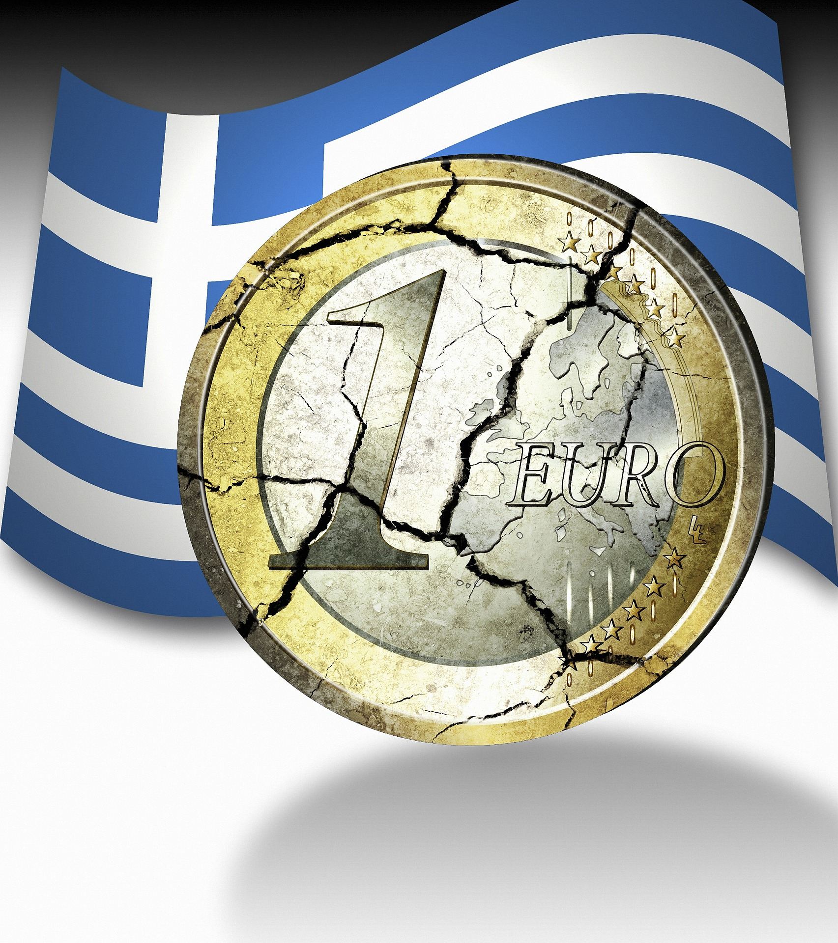 One euro coin in front of Swedish flag