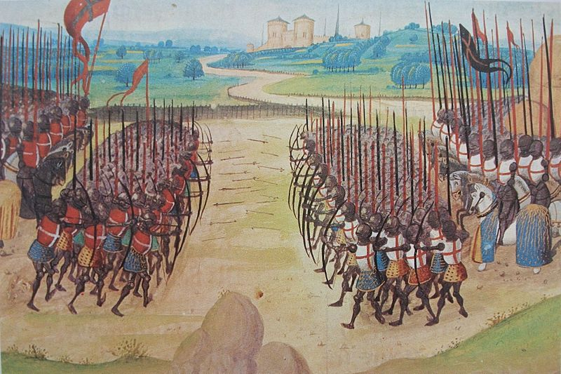 Painting of the battle of Agincourt