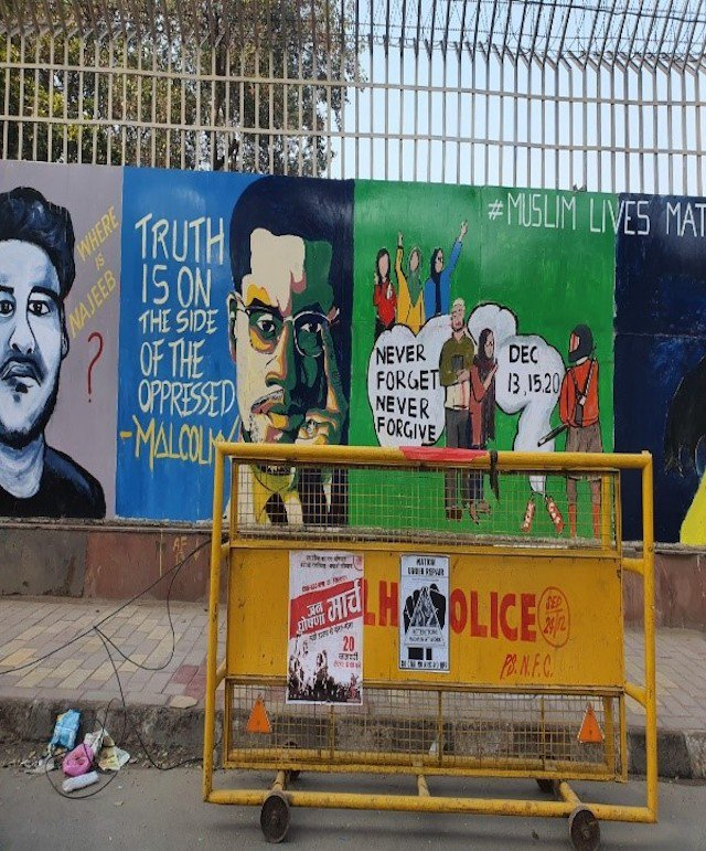 Murals at Shaheen Bagh, New Delhi.  January 2020.